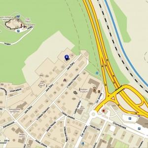 Монастырь св. Прокопия Сазавского на карте