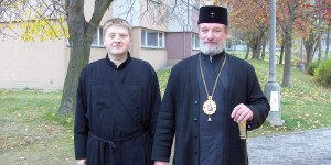 Олег Махнёв с Архиепископом Христофором