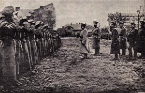 Генерал Радко-Дмитриев устраивает смотр Чешской дружины в Ярославе.