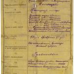 Второй лист Послужного списка В. Коломацкого.